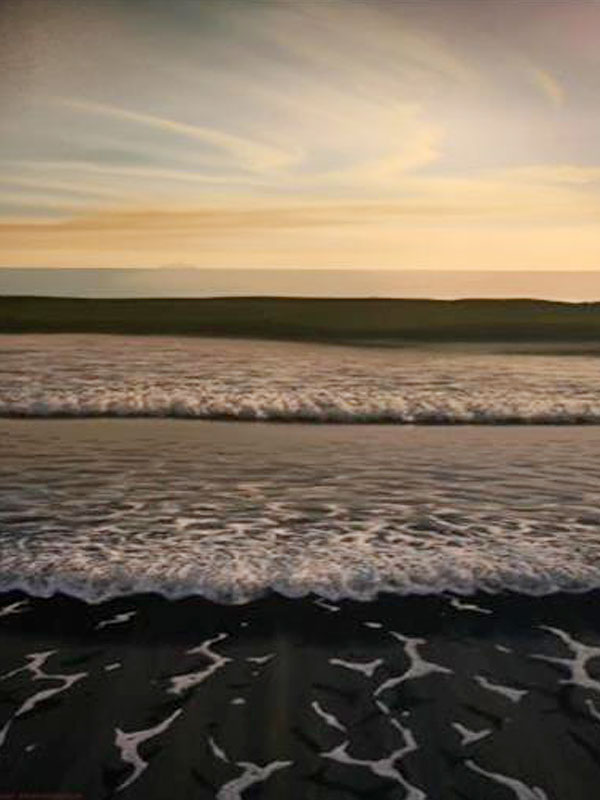 Works-on-canvas-Landscape-paintings-A-friendly-wave Landscape paintings